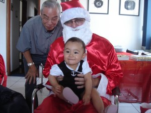 Papai Noel visita Teresa